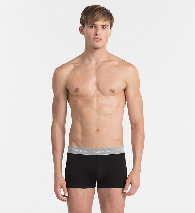 CALVINKLEIN 3 Pack Low Rise Trunks - Cotton Stretch - BLACK W/ GENOA/ BLACK W/ RED HEAT/ BLACK - CALVIN KLEIN UNDERWEAR - detail image 3