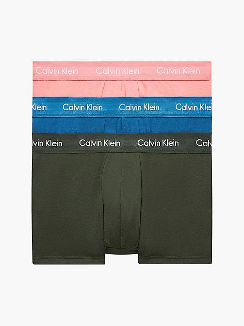 Calvin Klein Underwear 3 Pack Low Rise boxers blue maroon