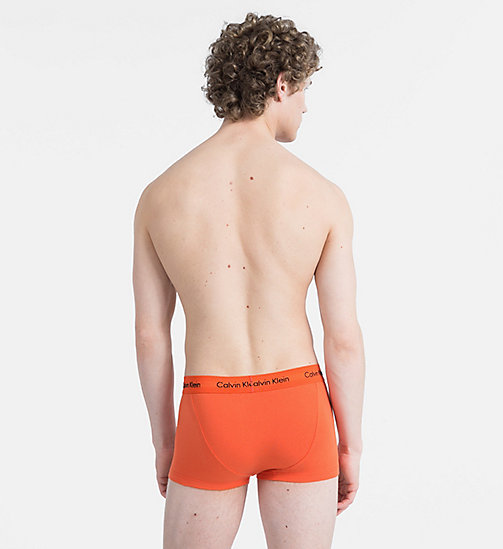 CALVINKLEIN 3 Pack Trunks - Cotton Stretch - FOREST NIGHT/ DARK NIGHT/ S ORANGE - CALVIN KLEIN NEW FOR MEN - detail image 1