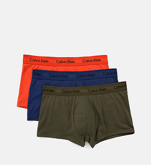 CALVIN KLEIN 3er-Pack Shorts - Cotton Stretch - FOREST NIGHT/ DARK NIGHT/ S ORANGE - CALVIN KLEIN UNTERWÄSCHE - main image 1