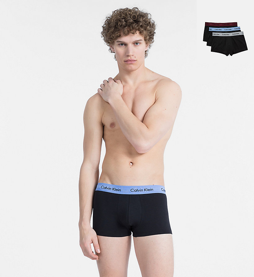 CALVINKLEIN Lot de 3 boxers - Cotton Stretch - WHITE/RED GINGER/PYRO BLUE - CALVIN KLEIN SOUS-VÊTEMENTS - image principale
