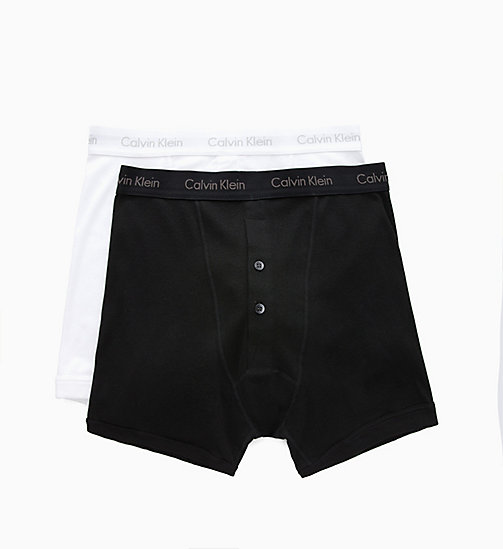 CALVIN KLEIN 2 Pack Boxers - BLACK/WHITE - CALVIN KLEIN NEW FOR MEN - detail image 1