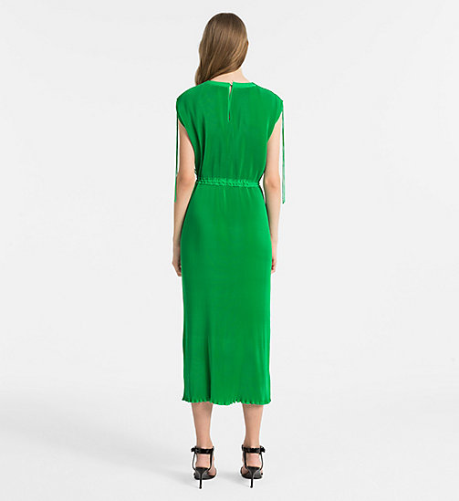 CALVINKLEIN Fluid Plissé Dress - KELLY GREEN - CALVIN KLEIN CLOTHES - detail image 1