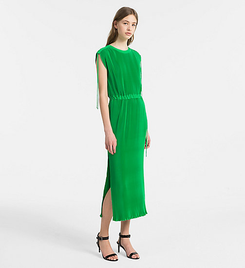 CALVINKLEIN Fluid Plissé Dress - KELLY GREEN - CALVIN KLEIN CLOTHES - main image
