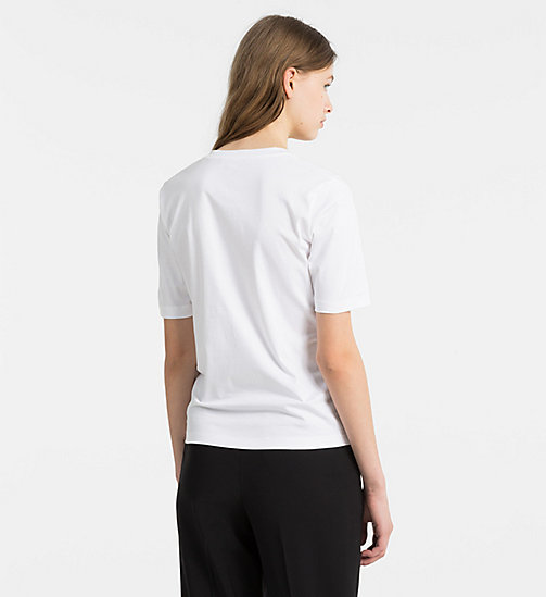 CALVINKLEIN Cotton Interlock T-shirt - WHITE - CALVIN KLEIN T-SHIRTS - detail image 1