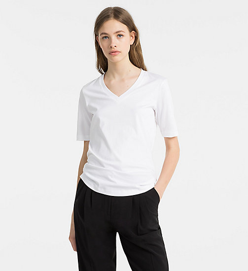 CALVINKLEIN Cotton Interlock T-shirt - WHITE - CALVIN KLEIN T-SHIRTS - main image