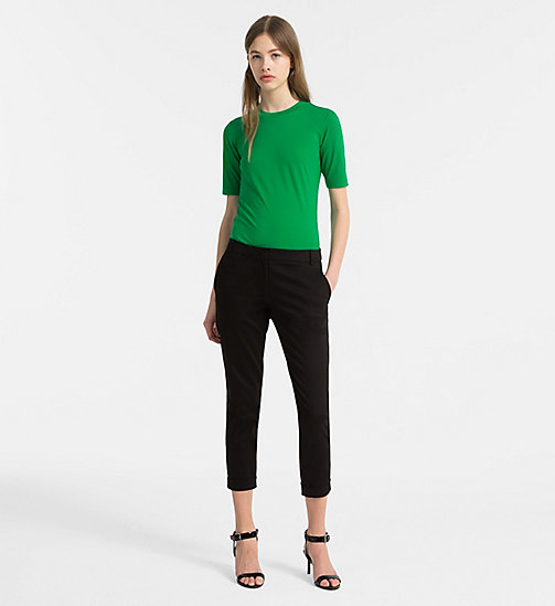 CALVINKLEIN Cotton Stretch T-shirt - KELLY GREEN - CALVIN KLEIN TOPS - detail image 1