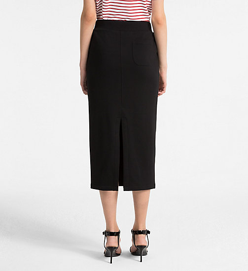 CALVINKLEIN Cotton Terry Pencil Skirt - BLACK -  SKIRTS - detail image 1