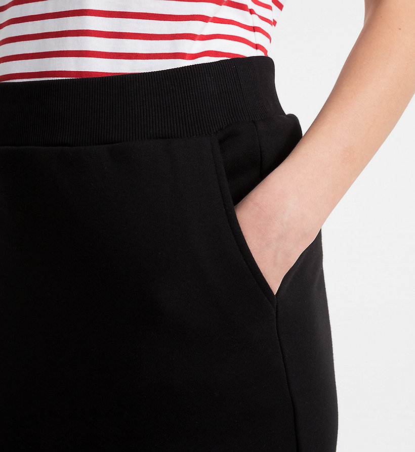CALVINKLEIN Cotton Terry Pencil Skirt - BRIGHT RED - CALVIN KLEIN WOMEN - detail image 2
