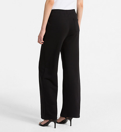 CALVINKLEIN Cotton Terry Trousers - BLACK - CALVIN KLEIN TROUSERS - detail image 1