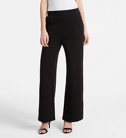 CALVINKLEIN Cotton Terry Trousers - BLACK - CALVIN KLEIN TROUSERS - main image