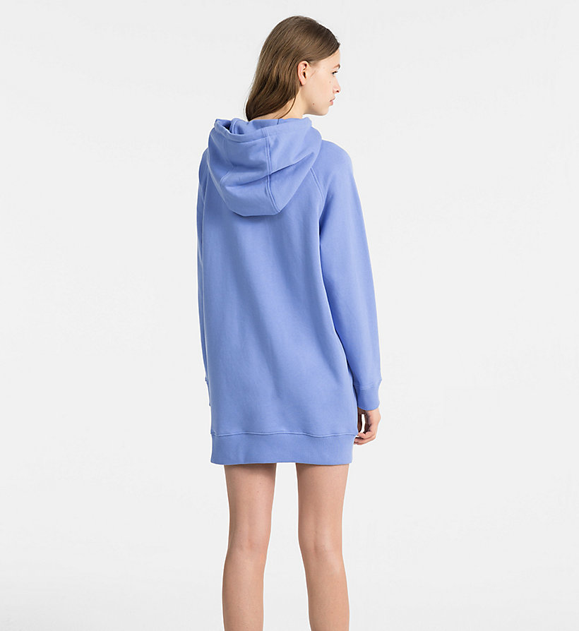 CALVINKLEIN Hooded Sweatshirt Dress - BLACK - CALVIN KLEIN WOMEN - detail image 1