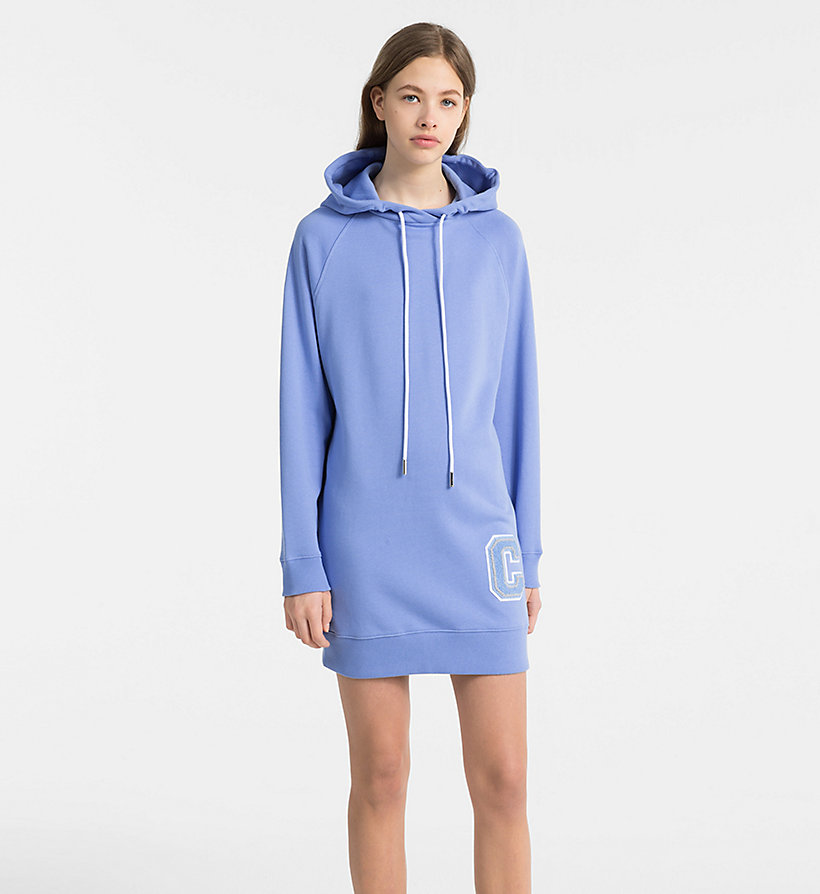 CALVINKLEIN Hooded Sweatshirt Dress - BLACK - CALVIN KLEIN WOMEN - main image