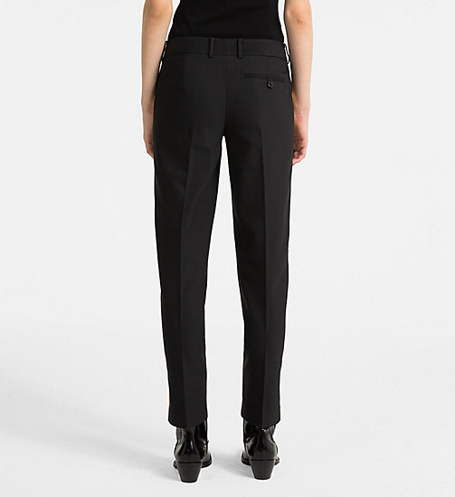 CALVINKLEIN Side-Stripe Trousers - BLACK/ YELLOW TRIM - CALVIN KLEIN CLOTHES - detail image 1