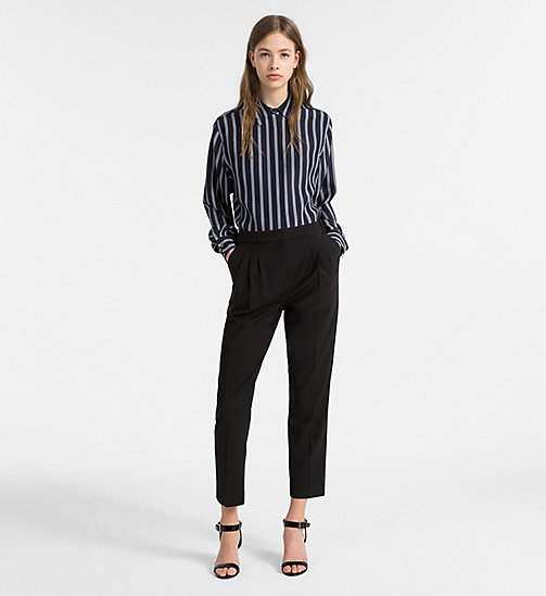 CALVINKLEIN Silk Stripe Shirt - LIGHT NAVY COMBO - CALVIN KLEIN CLOTHES - detail image 1