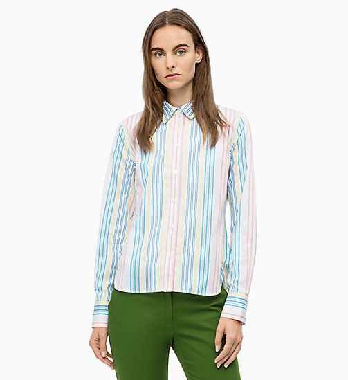 CALVINKLEIN Multicolour Stripe Shirt - MULTI - CALVIN KLEIN TOPS - main image