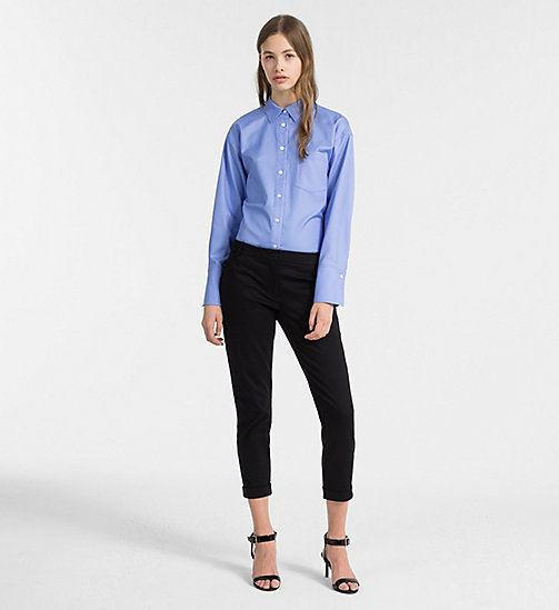 CALVINKLEIN Oxford Cotton Shirt - FRENCH BLUE - CALVIN KLEIN CLOTHES - detail image 1