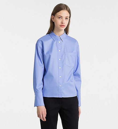 CALVINKLEIN Oxford Cotton Shirt - FRENCH BLUE - CALVIN KLEIN CLOTHES - main image