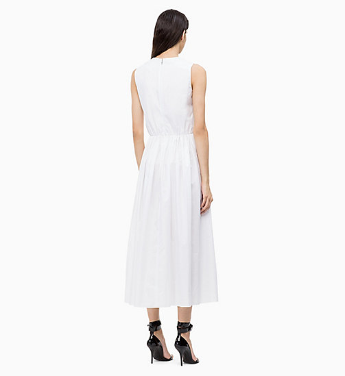 CALVINKLEIN Cotton Poplin Maxi Dress - WHITE - CALVIN KLEIN DRESSES - detail image 1