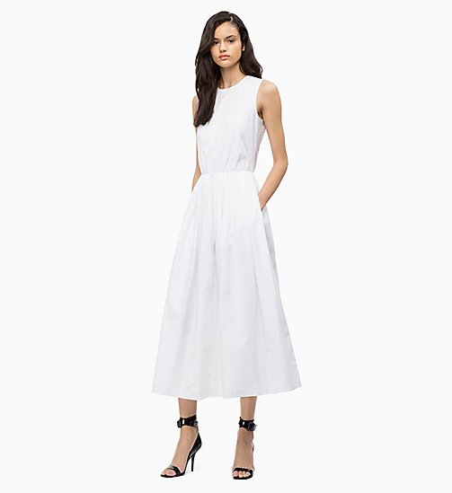 CALVINKLEIN Cotton Poplin Maxi Dress - WHITE - CALVIN KLEIN DRESSES - main image