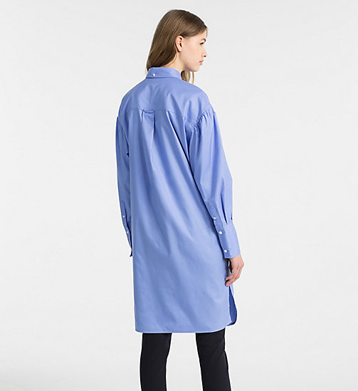 CALVINKLEIN Oxford Cotton Shirt Dress - FRENCH BLUE - CALVIN KLEIN CLOTHES - detail image 1