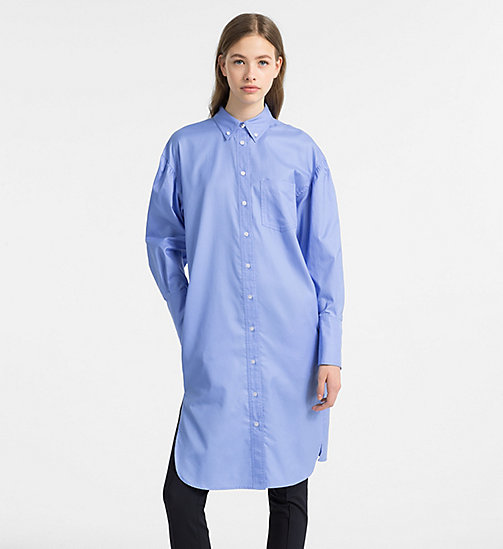 CALVINKLEIN Oxford Cotton Shirt Dress - FRENCH BLUE - CALVIN KLEIN CLOTHES - main image