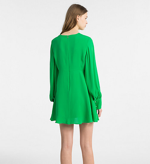 CALVINKLEIN Silk Georgette Dress - KELLY GREEN - CALVIN KLEIN CLOTHES - detail image 1