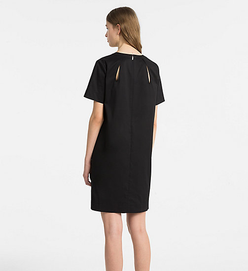 CALVINKLEIN Cotton Twill Short-Sleeve Dress - BLACK - CALVIN KLEIN CLOTHES - detail image 1