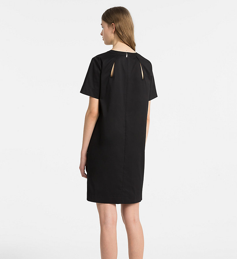 CALVINKLEIN Cotton Twill Short-Sleeve Dress - KELLY GREEN - CALVIN KLEIN WOMEN - detail image 1