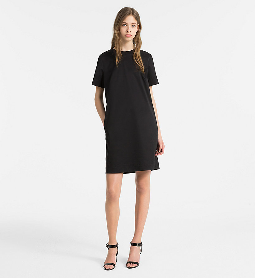 CALVINKLEIN Cotton Twill Short-Sleeve Dress - KELLY GREEN - CALVIN KLEIN WOMEN - detail image 3