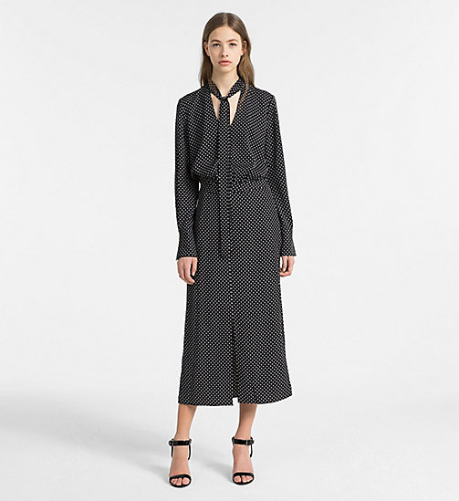 CALVINKLEIN Printed Longsleeve Dress - BLACK COMBO - CALVIN KLEIN CLOTHES - main image