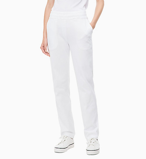 CALVINKLEIN Jogginghose mit Logo-Applikation - WHITE - CALVIN KLEIN CLOTHES - main image