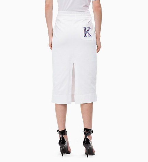 CALVIN KLEIN Logo Applique Skirt - WHITE - CALVIN KLEIN CLOTHES - detail image 1