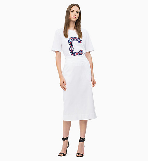 CALVINKLEIN Logo Applique Skirt - WHITE - CALVIN KLEIN SKIRTS - main image