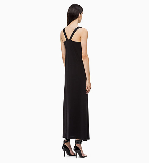 CALVINKLEIN Cotton Jersey Maxi Dress - BLACK - CALVIN KLEIN DRESSES - detail image 1