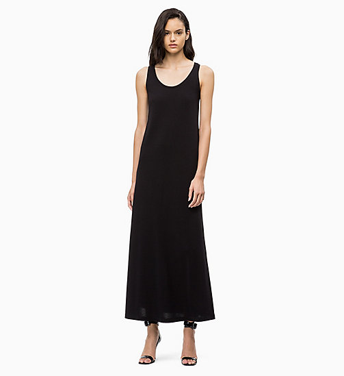 CALVINKLEIN Cotton Jersey Maxi Dress - BLACK - CALVIN KLEIN DRESSES - main image