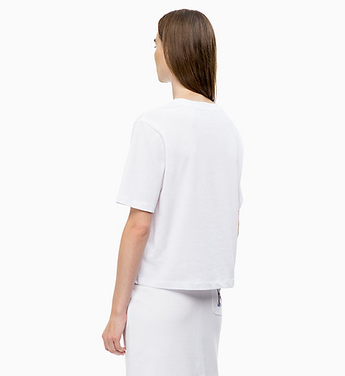 CALVINKLEIN Logo Applique T-shirt - WHITE - CALVIN KLEIN CLOTHES - detail image 1