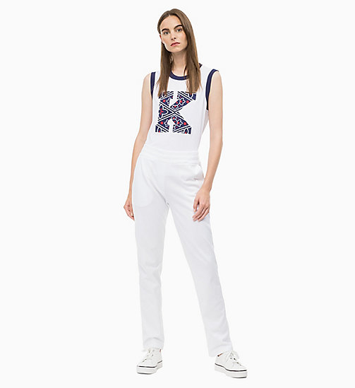 CALVIN KLEIN Logo Applique Tank Top - WHITE - CALVIN KLEIN CLOTHES - detail image 1
