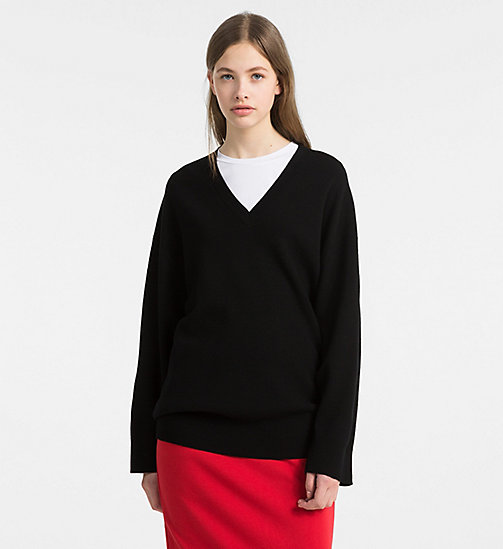 CALVINKLEIN Wool Oversized Jumper - BLACK - CALVIN KLEIN CLOTHES - main image