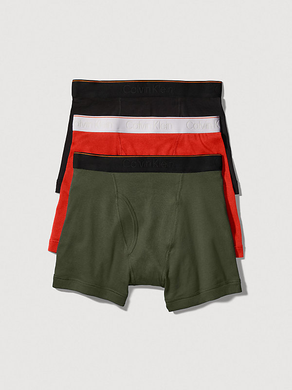 CALVIN KLEIN  - BLACK/OLIVE/RED -   - main image