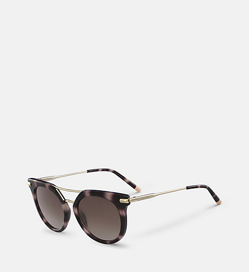 CALVIN KLEIN Cat Eye Sunglasses CK1232S - BLACK & SILVER - CALVIN KLEIN SUNGLASSES - detail image 1