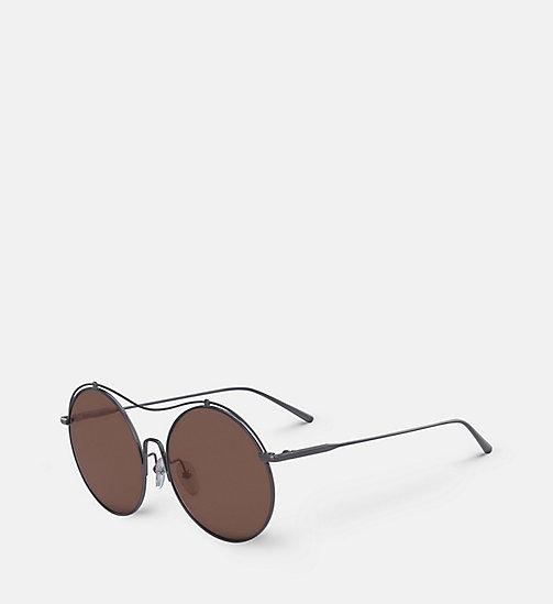 CALVINKLEIN Round Sunglasses CK2161S - SHINY GUNMETAL - CALVIN KLEIN SHOES & ACCESORIES - detail image 1