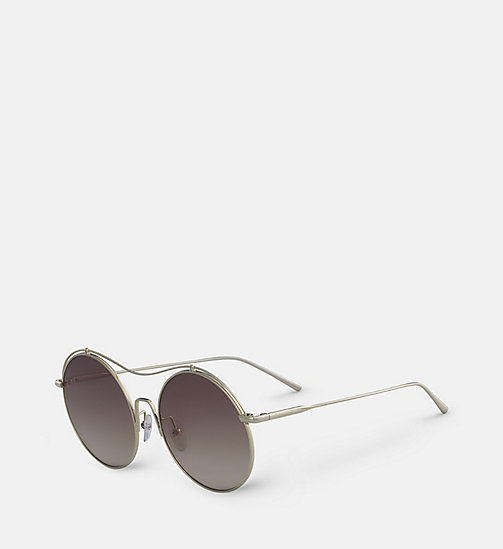 CALVINKLEIN Round Sunglasses CK2161S - SHINY GOLD - CALVIN KLEIN SHOES & ACCESORIES - detail image 1