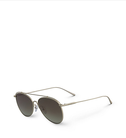 CALVINKLEIN Pilot Sunglasses CK2163S - MATTE GOLD -  SHOES & ACCESSORIES - detail image 1