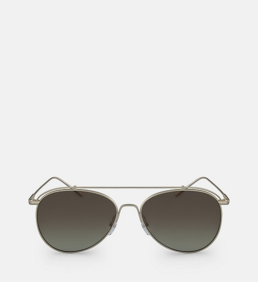 CALVINKLEIN Pilot Sunglasses CK2163S - MATTE GOLD -  SHOES & ACCESSORIES - main image