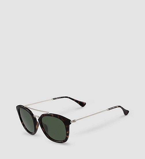 CALVINKLEIN Tea Cup Sunglasses CK3195S - SHINY TORTOISE/SOLID GREEN - CALVIN KLEIN SHOES & ACCESSORIES - detail image 1