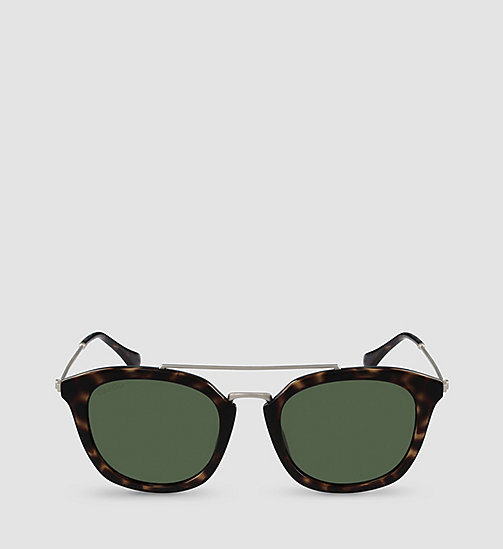 CALVINKLEIN Tea Cup Sunglasses CK3195S - SHINY TORTOISE/SOLID GREEN - CALVIN KLEIN SHOES & ACCESSORIES - main image