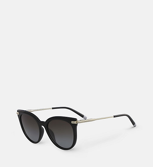 CALVIN KLEIN Cat Eye Sunglasses CK3206S - BLACK - CALVIN KLEIN SUNGLASSES - detail image 1