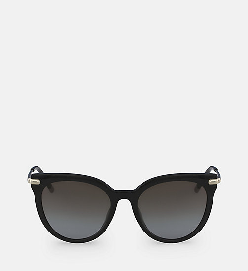 CALVINKLEIN Cat Eye Sunglasses CK3206S - BLACK - CALVIN KLEIN SUNGLASSES - main image