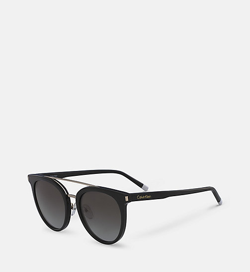 CALVINKLEIN Cat Eye Sunglasses CK4352S - BLACK - CALVIN KLEIN SHOES & ACCESORIES - detail image 1